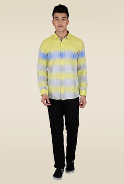 Lawman Yellow Stripe Casual Shirt