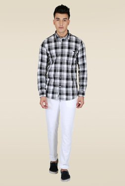 Lawman Black Checks Full Sleeve Shirt