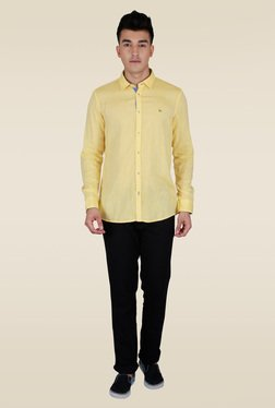 Lawman Yellow Slim Fit Casual Shirt