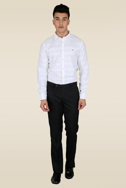 Lawman White Striped Slim Fit Shirt