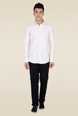 Lawman Off White Slim Fit Casual Shirt