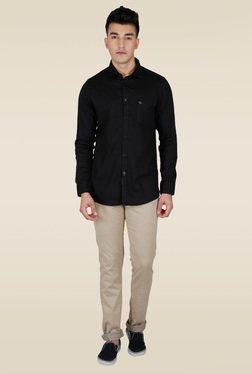 Lawman Black Full Sleeve Slim Fit Shirt