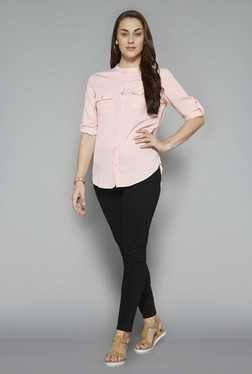 LOV by Westside Peach Brandy Blouse