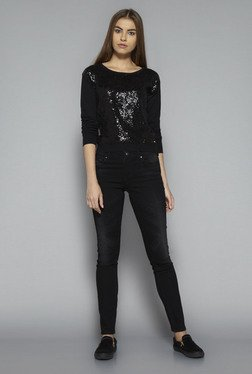 Nuon by Westside Black Sparkle T Shirt