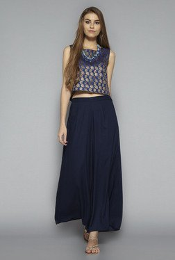 Bombay Paisley by Westside Blue Printed Crop Top