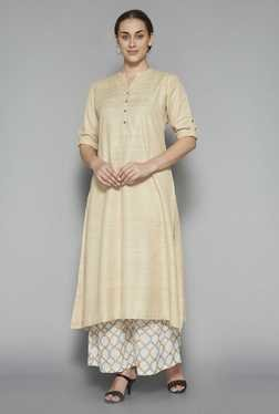 Zuba by Westside Beige Solid Kurta
