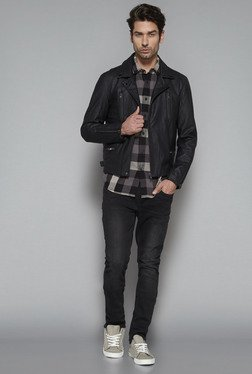 Nuon by Westside Black Slim Fit Jacket