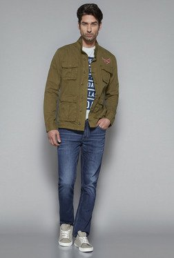 Nuon by Westside Olive Slim Fit Jacket