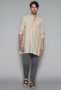 ETA By Westside Beige Slim Fit Kurta