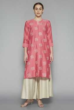 Zuba by Westside Pink Embroidered Kurta