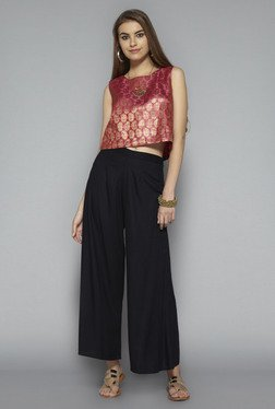 Bombay Paisley by Westside Pink Printed Crop Top