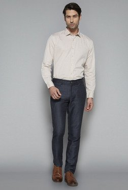 Ascot By Westside Beige Slim Fit Shirt