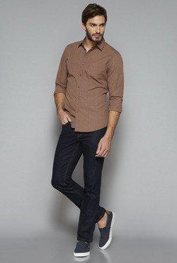 Westsport By Westside Brown Slim Fit Shirt