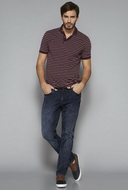 Westsport by Westside Wine Slim Fit Polo T Shirt