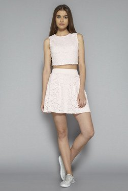 Nuon by Westside Pink Lace Fiona Skirt