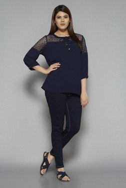 Gia by Westside Navy Karen Blouse