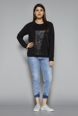 Sassy Soda by Westside Black Darla Knit Top