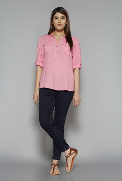 Gia by Westside Pink Nora Blouse