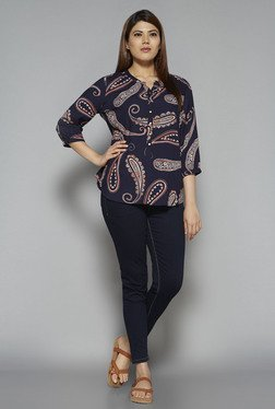 Gia by Westside Navy Sana Blouse