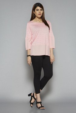Gia by Westside Peach Mesley Top