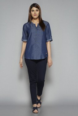 Gia by Westside Blue Sana Blouse