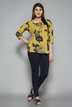 Gia by Westside Mustard Sana Blouse