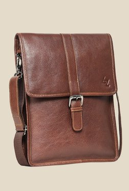 Leather Zentrum Brown Leather Sling Bag