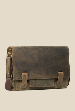 Leather Zentrum Brown Leather Messenger Bag - Mp000000000616062
