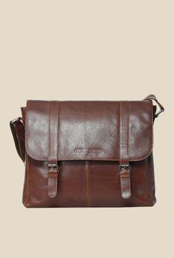 Leather Zentrum Brown Leather Messenger Bag - Mp000000000616069