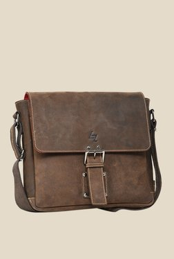 Leather Zentrum Brown Leather Messenger Bag - Mp000000000616087