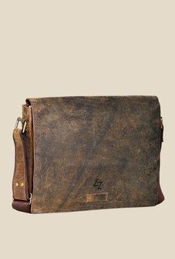Leather Zentrum Brown Leather Messenger Bag - Mp000000000616097
