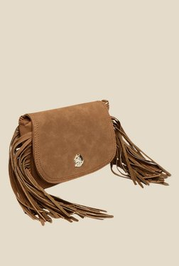 Covo Brown Solid Sling Bag
