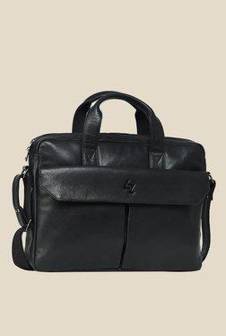 Leather Zentrum Black Leather Messenger Bag