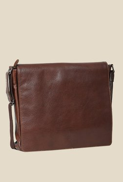 Leather Zentrum Brown Leather Messenger Bag - Mp000000000616121