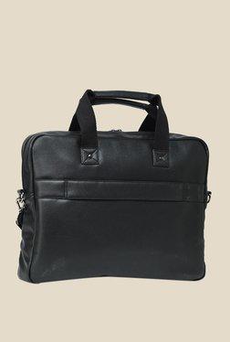 Leather Zentrum Black Leather Messenger Bag - Mp000000000616127