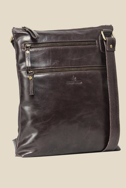 Leather Zentrum Brown Leather Sling Bag - Mp000000000616131