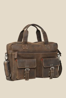 Leather Zentrum Brown Leather Messenger Bag - Mp000000000616133
