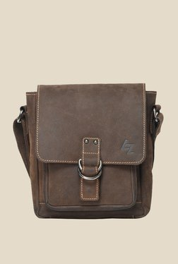 Leather Zentrum Brown Leather Sling Bag - Mp000000000616135