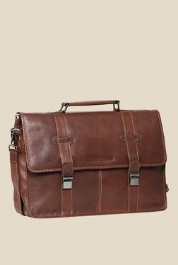 Leather Zentrum Brown Leather Messenger Bag - Mp000000000616137