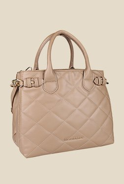 Lino Perros Beige Leather Handbag