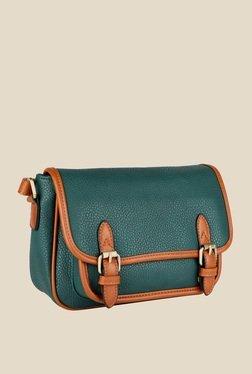 Lino Perros Green Buckle Messenger Bag