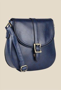 Lino Perros Blue Buckle Messenger Bag