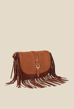 Lino Perros Brown Zip Sling Bag - Mp000000000616926