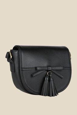 Lino Perros Black Clasp Sling Bag