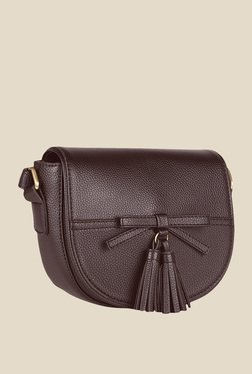 Lino Perros Brown Clasp Sling Bag