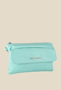 Lino Perros Turquoise Zip Sling Bag