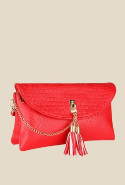 Lino Perros Red Clasp Sling Bag