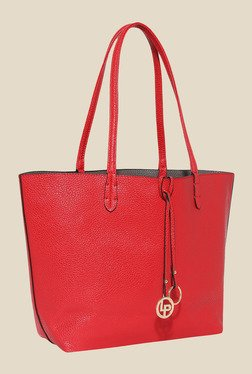 Lino Perros Red Tote Bag with Sling Bag