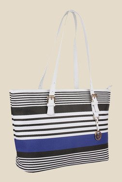 Lino Perros Blue Stripe Tote Bag
