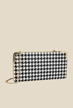 Lino Perros Black & White Printed Wallet